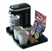 KT9i Hotel Guest Room Small Brewer Tray with 4 Hole K-Cup Display